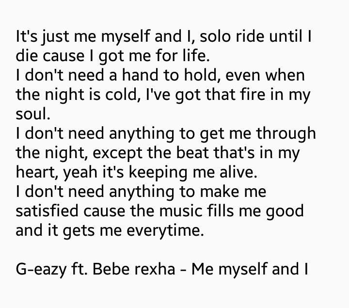 G Eazy Ft Bebe Rexha Me Myself And I Yaaaaaaaaaaassssssssss