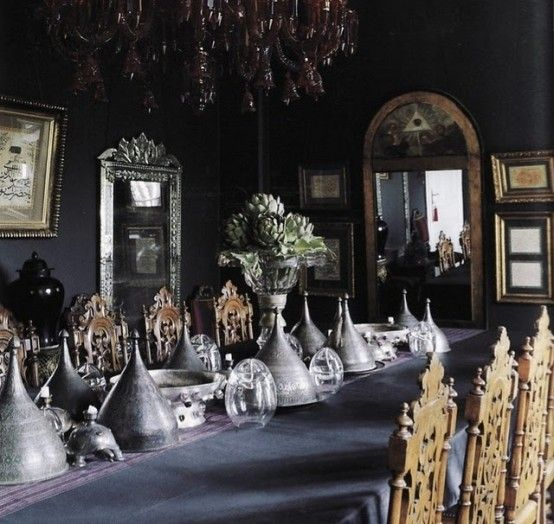 20 Refined Gothic Kitchen And Dining Room Designs