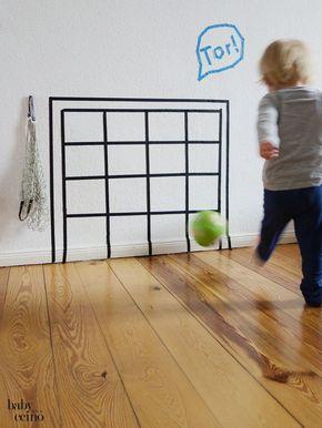 DIY für ein Fußballtor im Kinderzimmer in 2020 Fußball