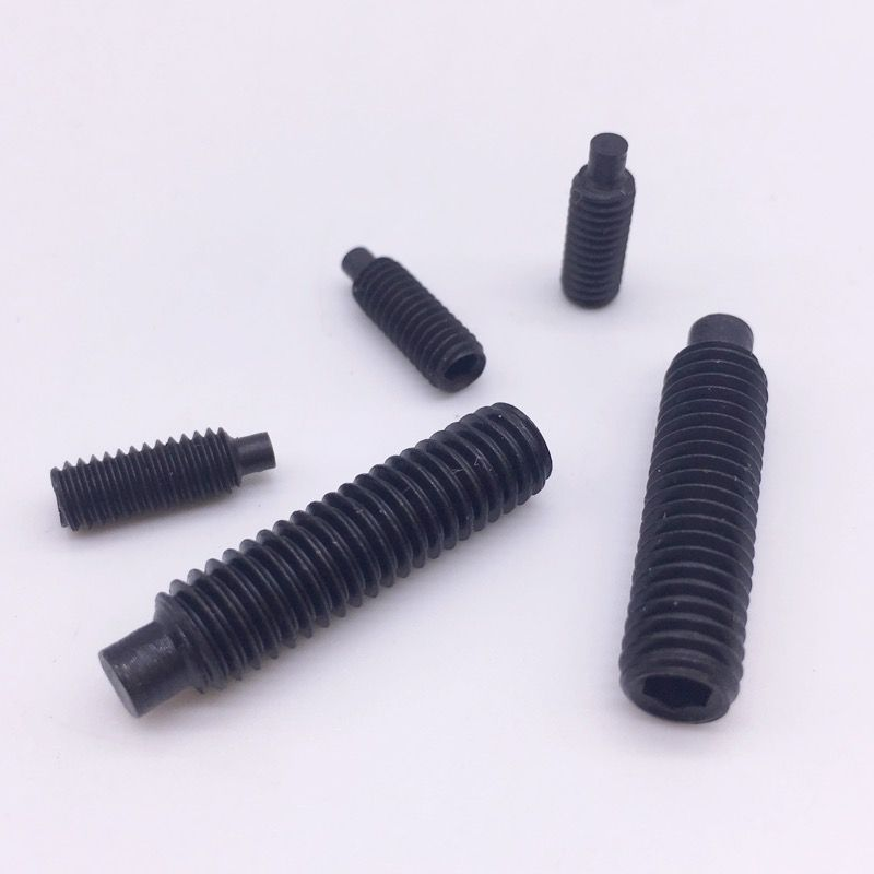 M8 Grub Screws Hex Socket Set Screws With Dog Point Alloy Steel Grade 12 9 Black Socket Set Steel Grades Grub Screw