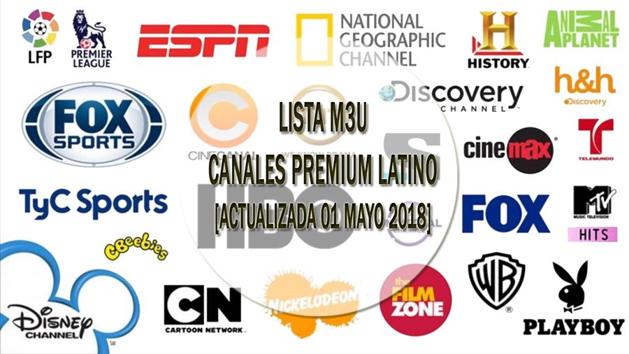 Listas Iptv M3u Lista M3u Canales Premium Latino Actualizada Mayo Latinas Canales Tv En Vivo