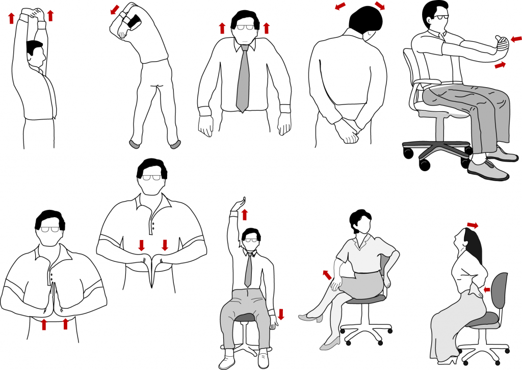 office desk stretching exercises | easy workout at work