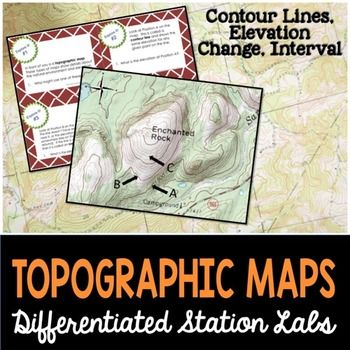 Topographic Maps Student Led Station Lab Topographic Map Science