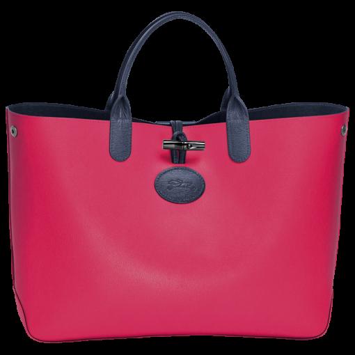 Medium tote bag - ROSEAU RÉVERSIBLE - Handbags - Longchamp - Sandy ...