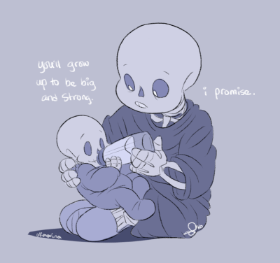 Sans and Papyrus Baby Bones | Tumblr
