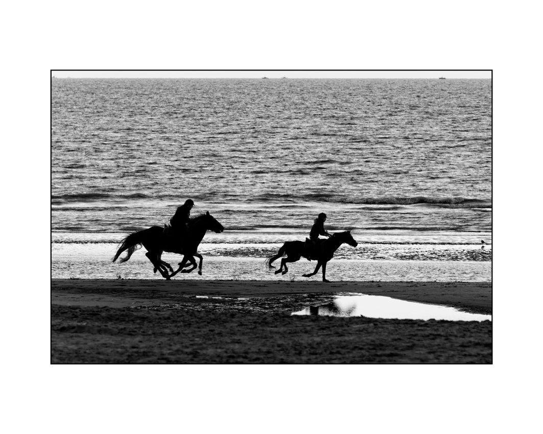 Le cavalier masqué - Combien de chevaux et de cavaliers sur cette image ? Deux ?   Portez votre attention sur les jambes des chevaux et découvrez le cavalier masqué...