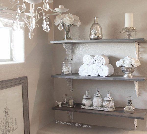 30 elegant and antique inspired rustic glam decorations home decor rh pinterest com antique brass bathroom shelves antique bronze bathroom shelves