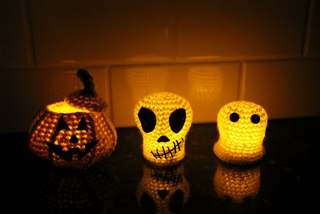 Hallo Halloween Decoraties : Ravelry crochet bundle halloween decoration ghost skull and