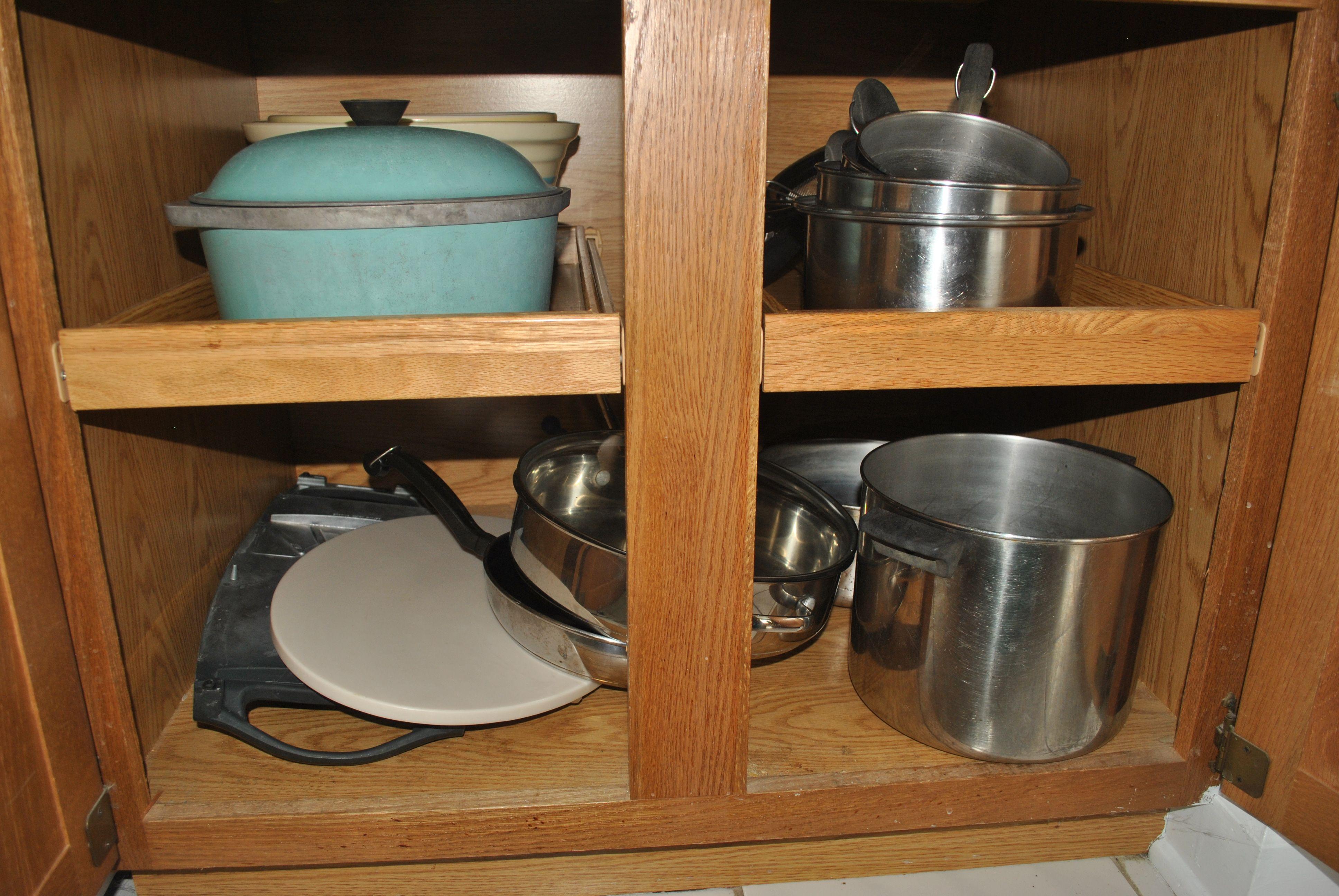 pin pans storage with makes rack you pantry pullout finding cabinet utility what pots and