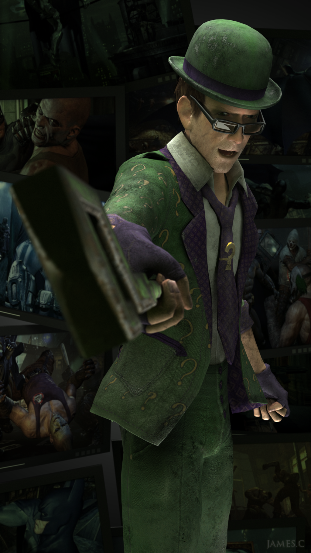 Riddler riddle gotham casino arkham knight