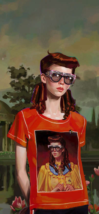 Gucci inserts glasses of jacket of picture brand luxury