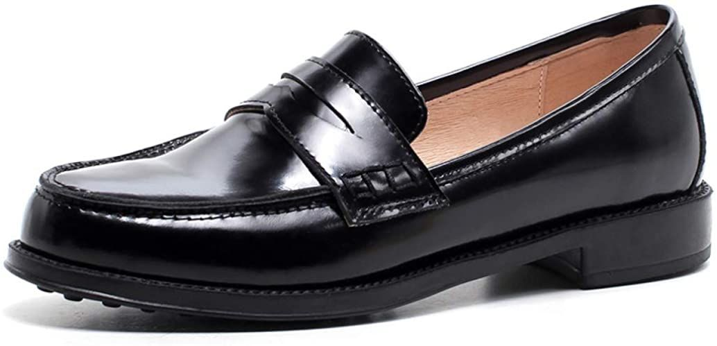 Classic Penny Loafers for Women Patent Leather Oxford ...