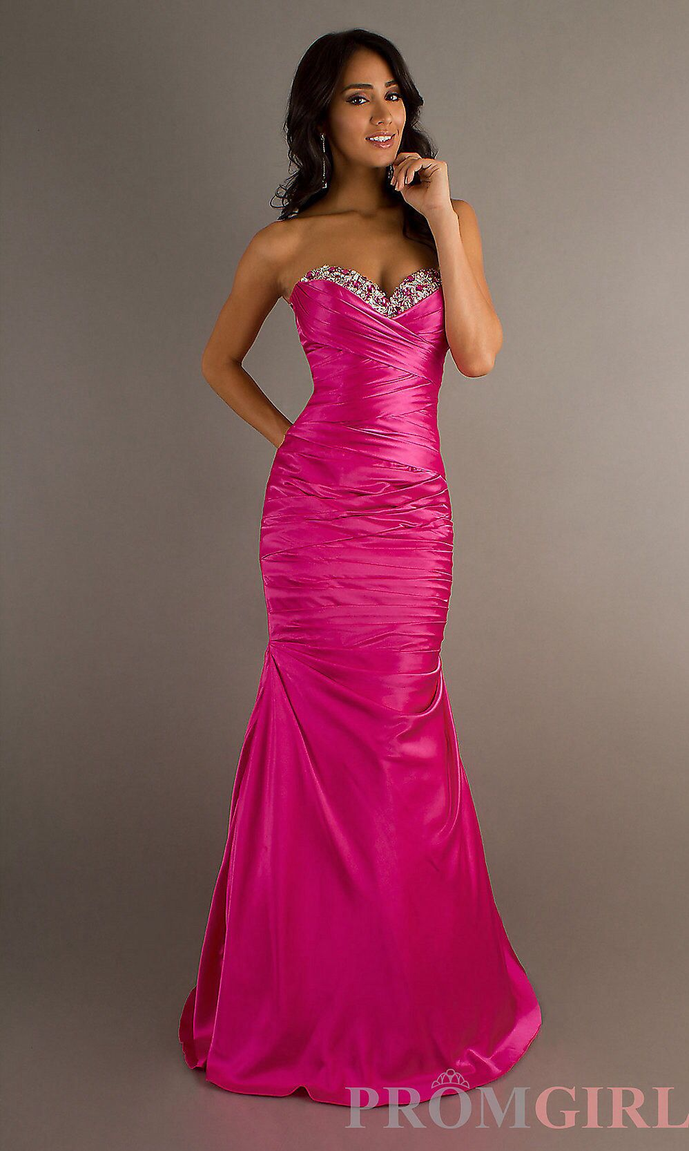 Prom dress-Mermaid style pink with sparkles at the top | Prom ...