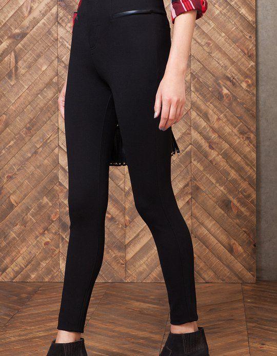 Body Mujer Legging Shape Vivos Polipiel Pantalones UVSqzpGM