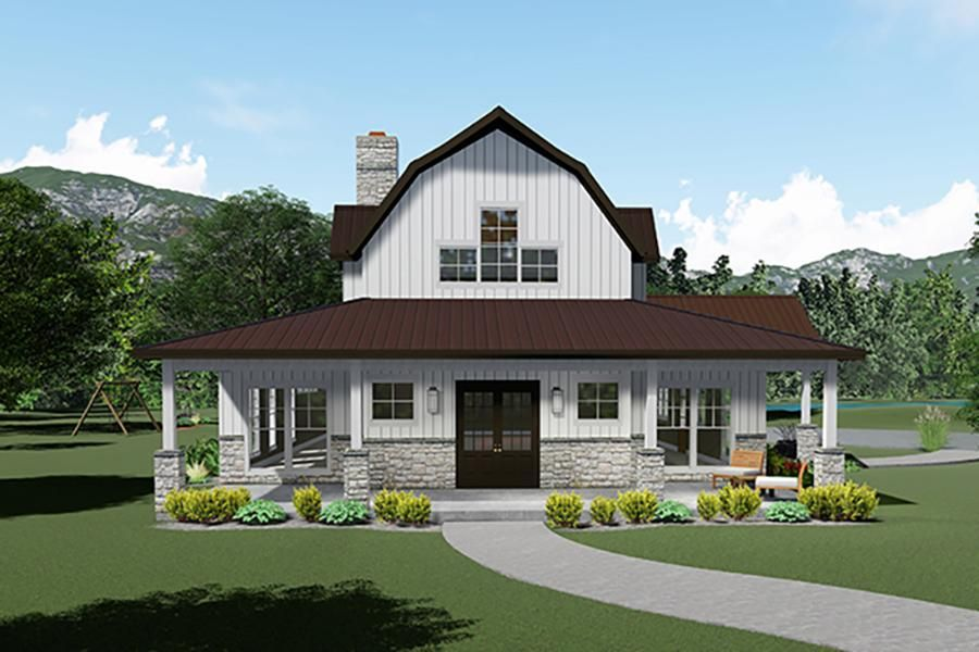 House Plan 8318 00117 Country Plan 3 414 Square Feet 3 Bedrooms 3 5 Bathrooms In 2020 House Plan With Loft Barn House Plans Farmhouse Plans