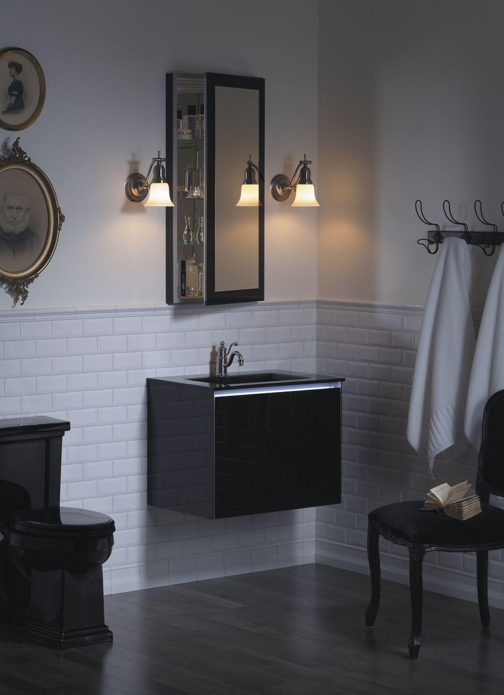Black Toilet And Vanity Bathroom Design Black Bathroom Design