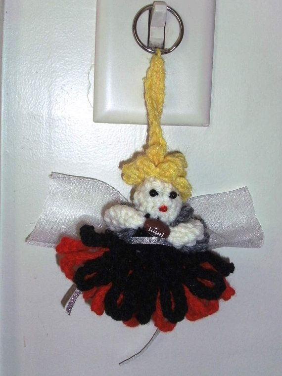 Atlanta Falcons Fairy Key chain by MarysDollclothesandm on Etsy, $3.00