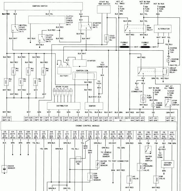 17 1993 Toyota Pickup Electrical Wiring Diagram Wiring