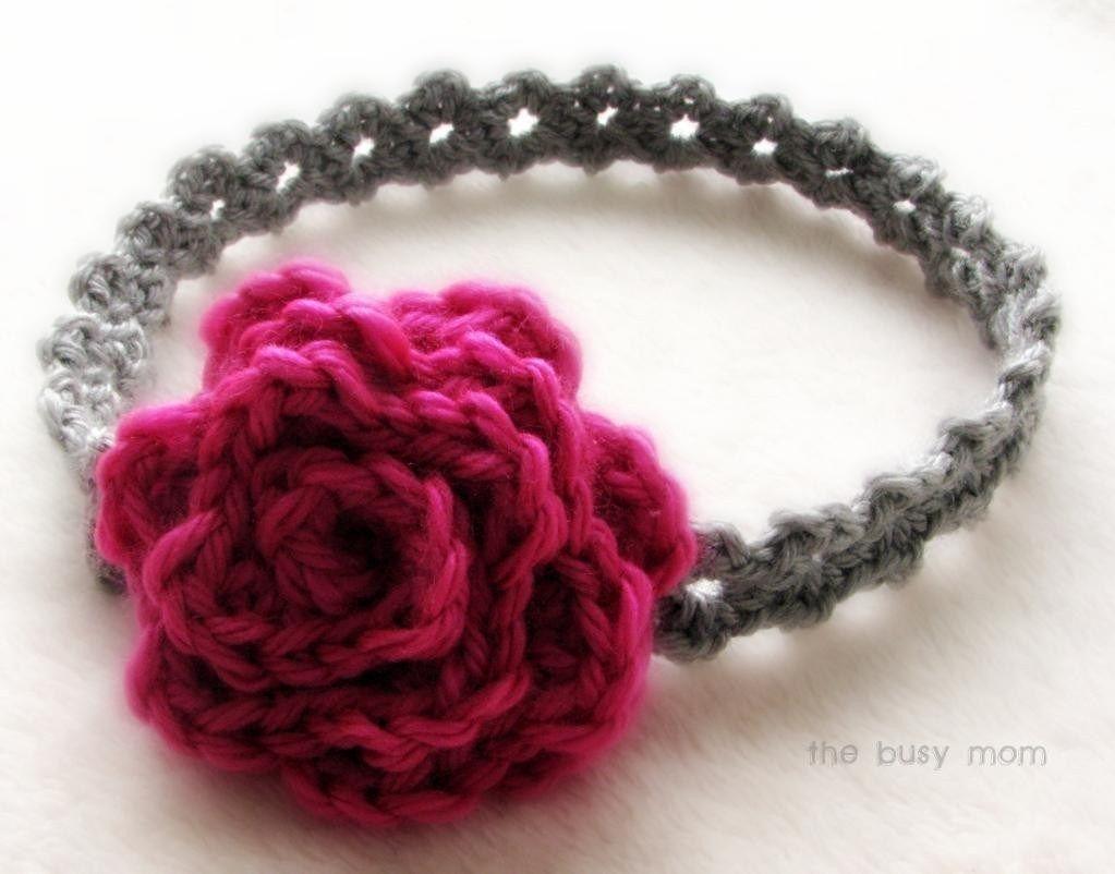 baby flower headband crochet pattern