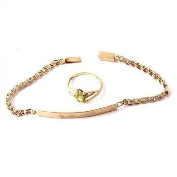 10kt Gold Jewelry Bracelet and Ring httpwwwpropertyroomcoml