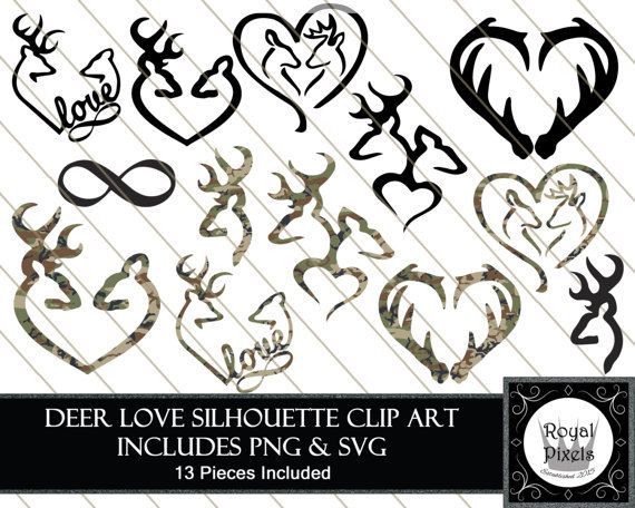 Download Hunting Silhouette Clip Art Set - 13 Piece - 7 inches ...