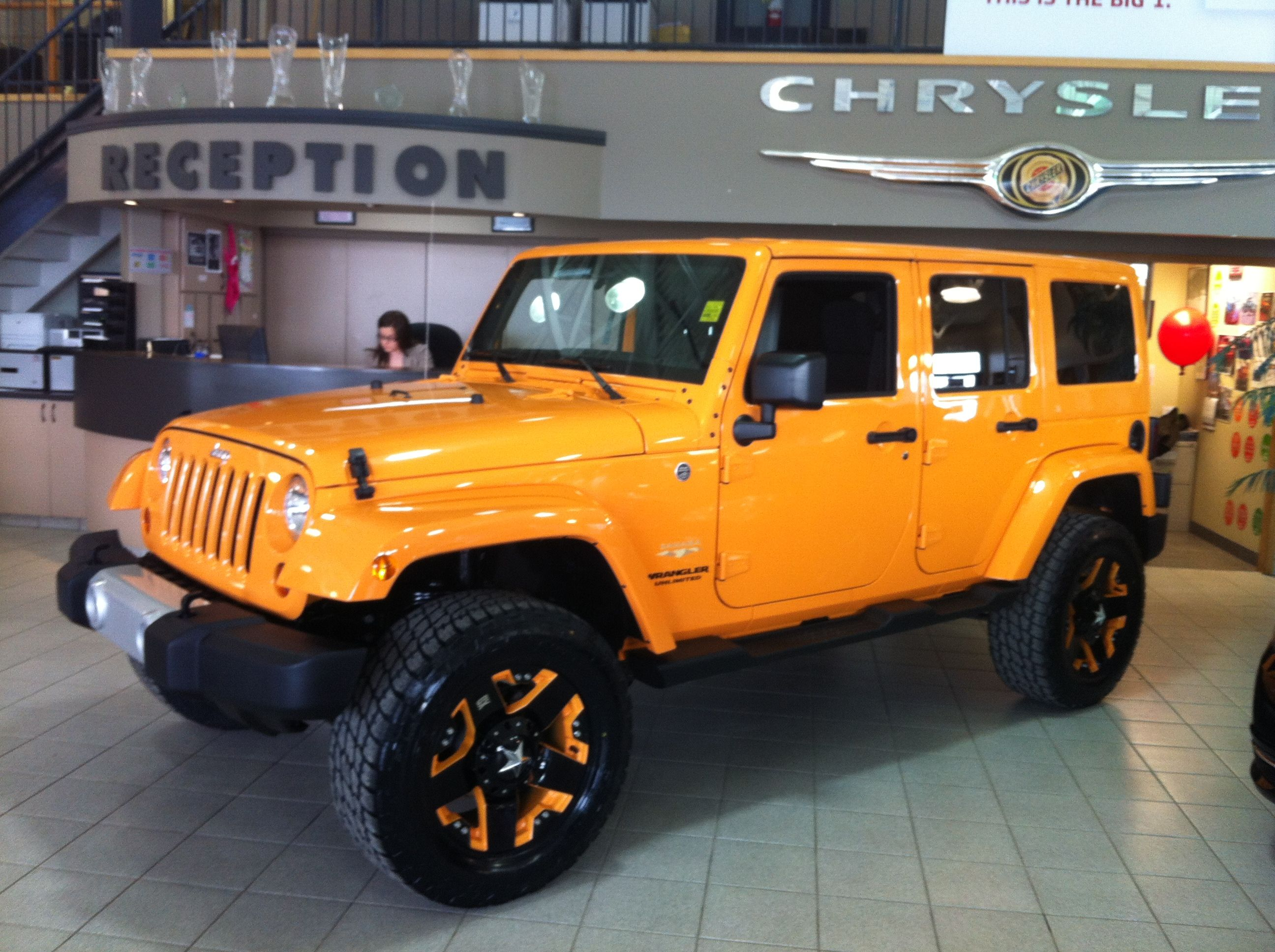 This citrus flavoured Jeep is a beauty Check out those WOW wheels