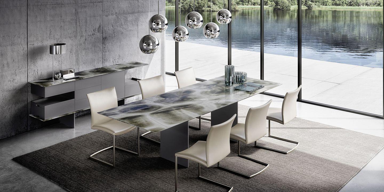 Plateau De Table En Pierre Naturelle table draenert, rectangulaire extensible avec plateau en
