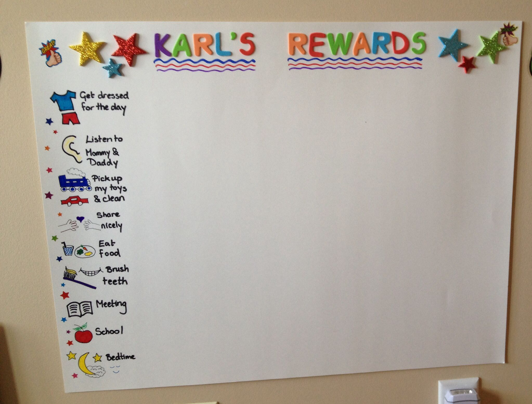 Toddler rewards chart  like the visual part of it also stuff for chipa rh pinterest