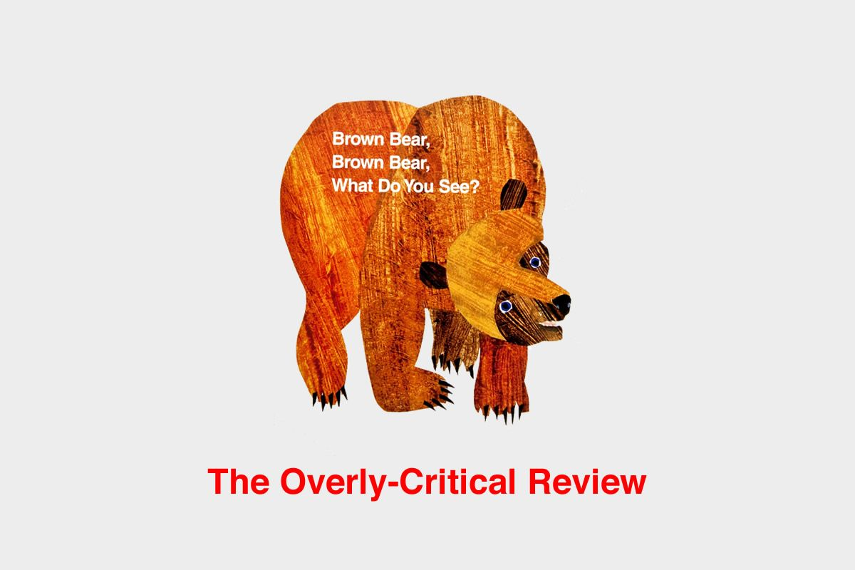 Overly Critical Children S Book Review Brown Bear Brown Bear