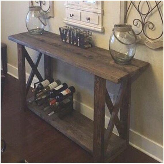 40 Farmhouse Console Table: Entryway Table / Console Table / Farmhouse Decor By