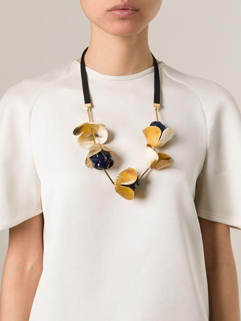 Marni Flower Pendant Necklace - Cahier D'exercices - Farfetch.com