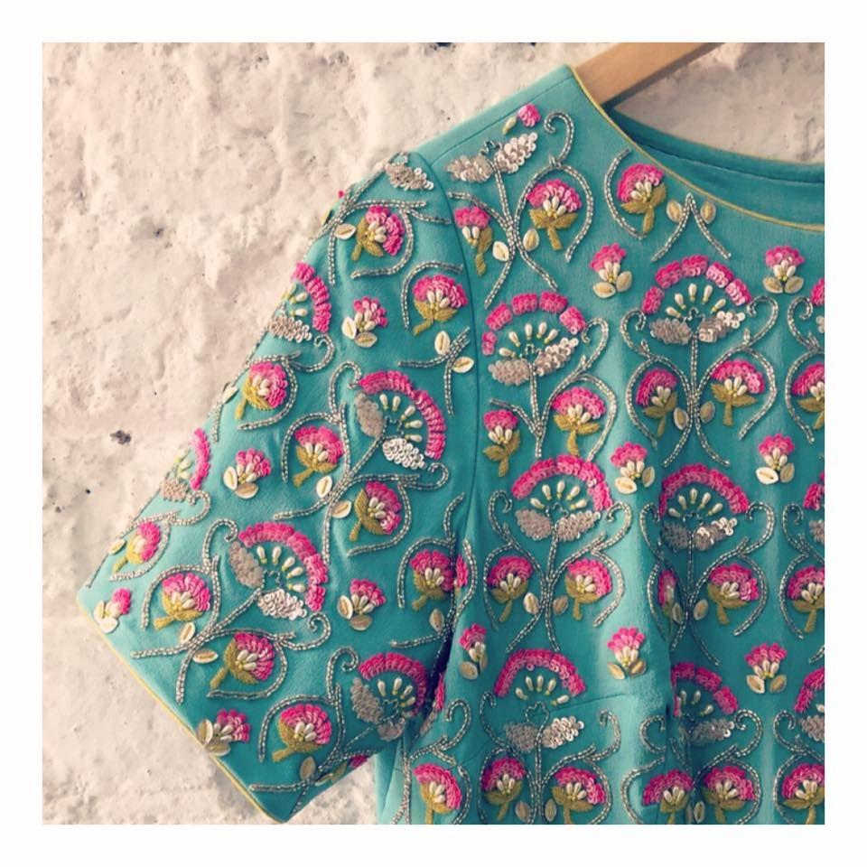 Pin de sushmitha raj en 1   Pinterest   Bordado, Textura y Blusas