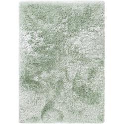 Photo of benuta Hochflor Shaggyteppich Lea Grün 140×200 cm – Langflor Teppich für Wohnzimmer benuta
