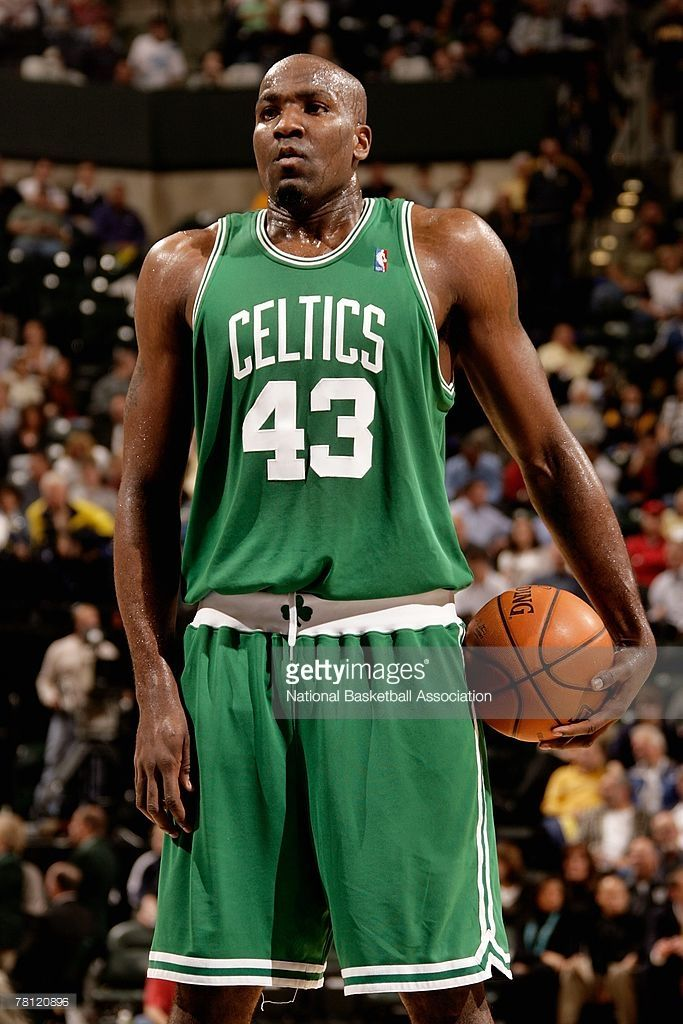 Kendrick Perkins  43 of the Boston Celtics prepares to shoot a free throw  during the game against the Indiana Pacers on November 13 74b1176b8