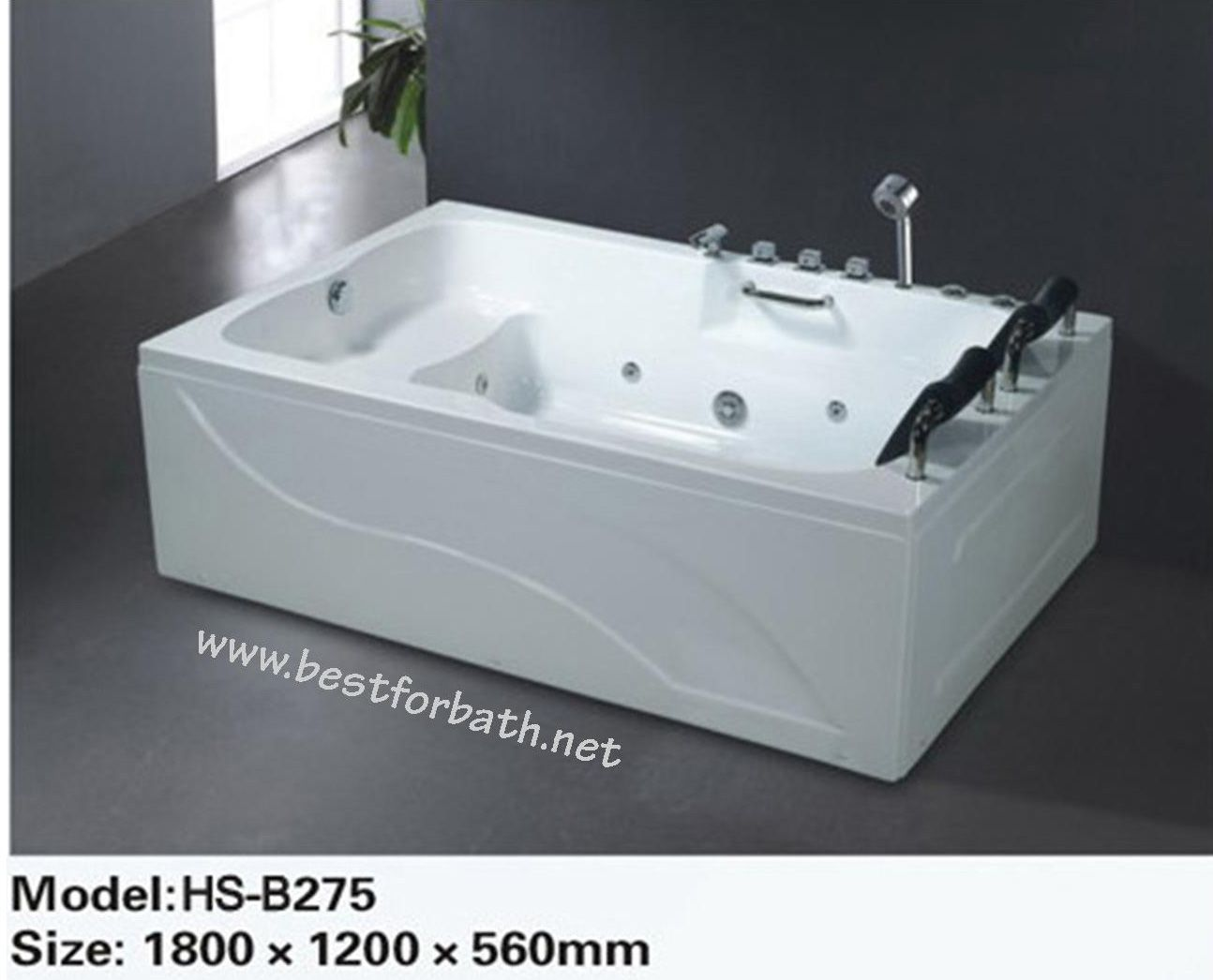 2 PERSON Deluxe Computerized Whirlpool, Jetted Bathtubs. B275.LEFT ...