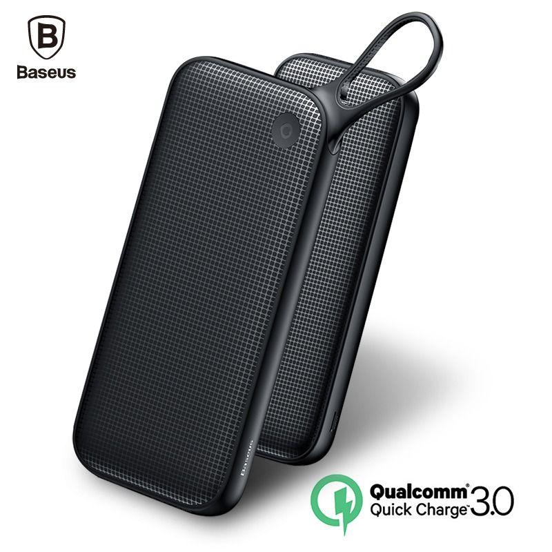 b4c072574 Baseus 20000mAh Power bank Quick Charge 3.0 Powerbank QC3.0 Fast External  Battery Charger Dual