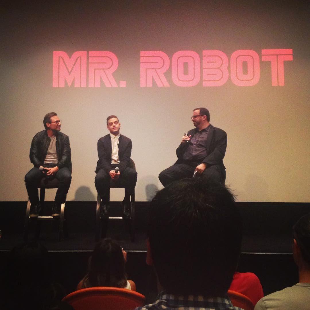The incredible cast of Mr. Robot: Christian Slater and Rami Malek speak to Alan Sepinwall for the sag foundation.  #USANetwork #MrRobot #ChristianSlater #RamiMalek #NY #sagfoundation