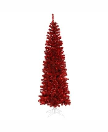 Vickerman Christmas Trees.Vickerman 6 5 Ft Red Pencil Artificial Christmas Tree With