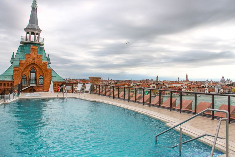 Rooftop Pool At Hilton Molino Stucky Venice Http Www Theraveller