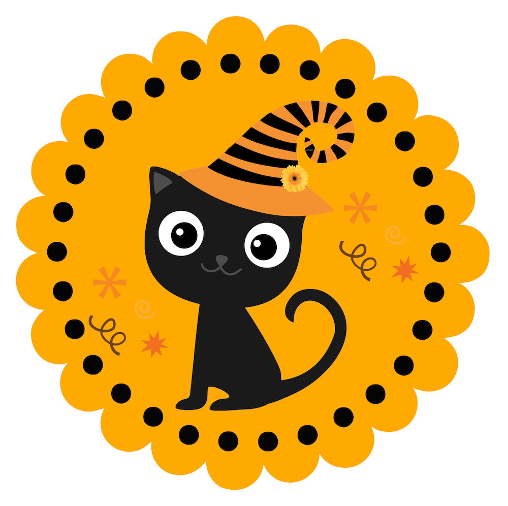 free halloween printables this cute halloween kitty prints large