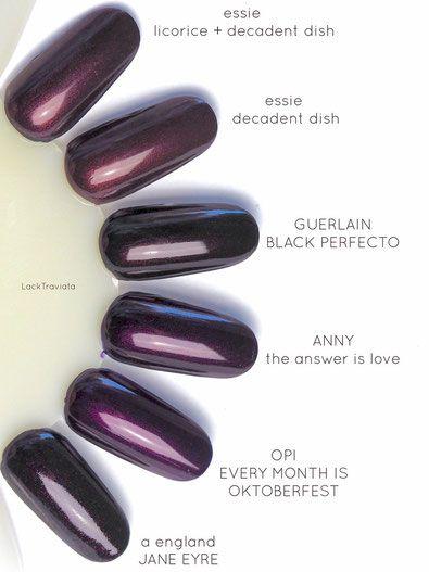 9eaca48e38f9cb swatch GUERLAIN BLACK PERFECTO Vergleich   comparison