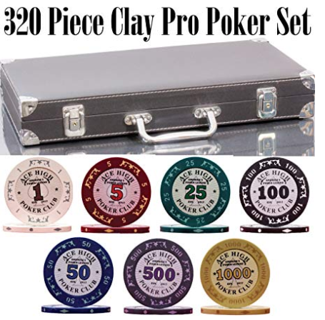 """NEW DESIGN limited series """"Ace High"""" poker set includes"""