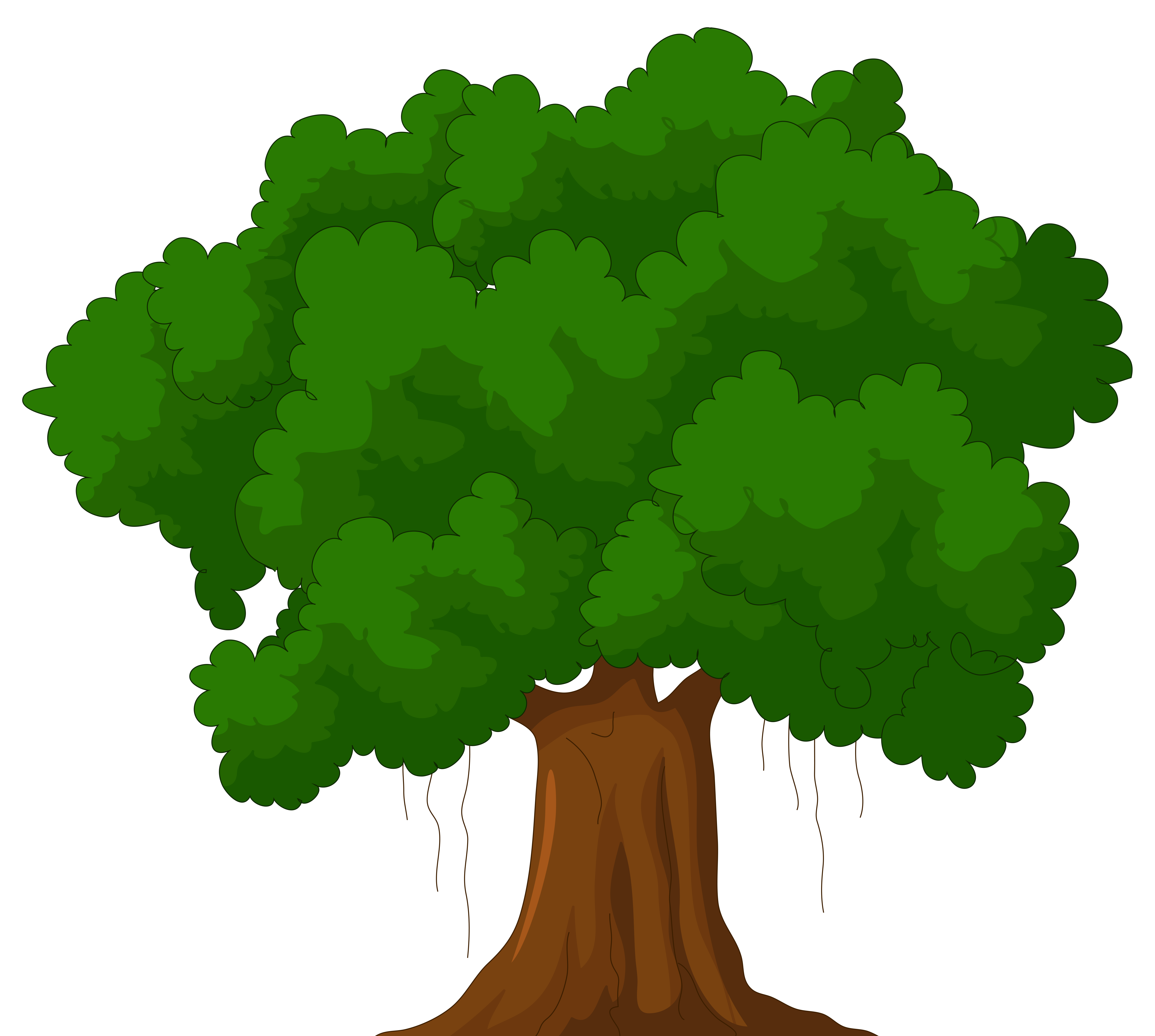 Animated tree. Free clip art collection