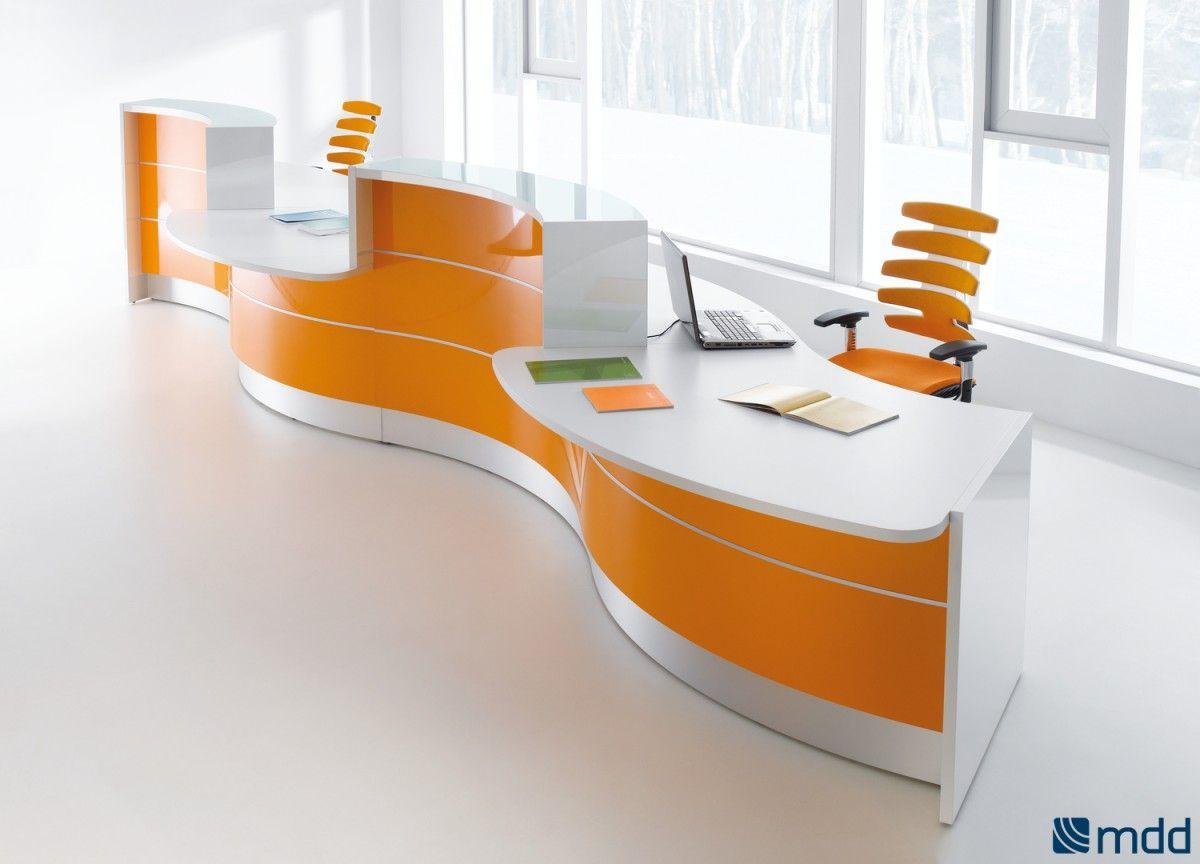 Home gt reception desks gt 12 curved walnut glass top reception desk - Valde Countertop Curved Long Reception Desk By Mdd Office Reception Desksoffice Furniturecountertopreceptions