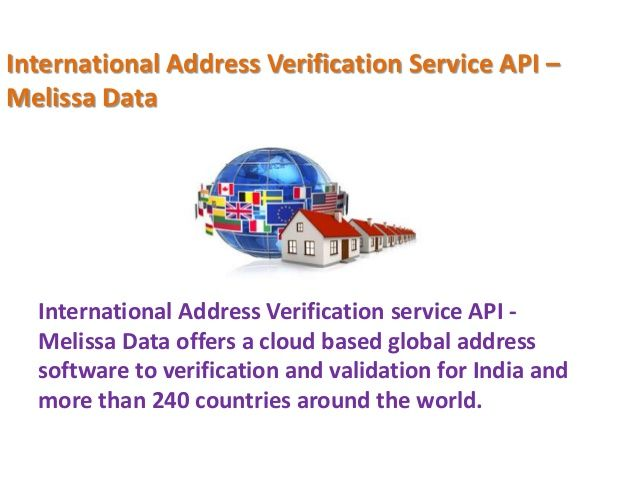 Address Verification System  Melissa Data Is A Leading