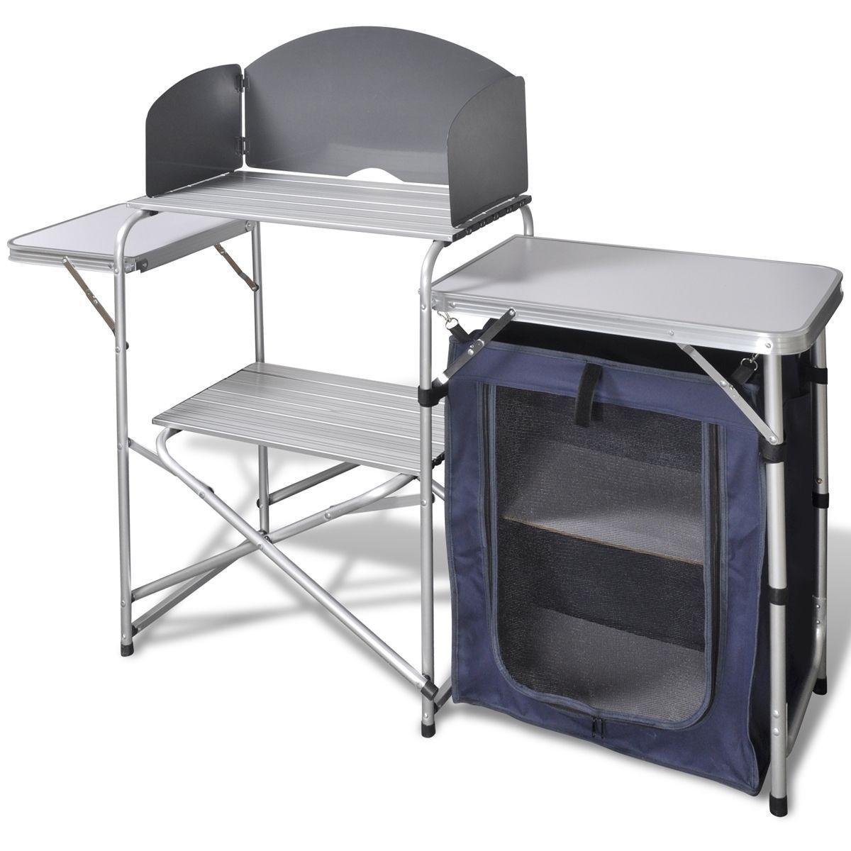 Campingküche Kocherschrank mit Windschutz Vorzelt-küche Reiseküche ...