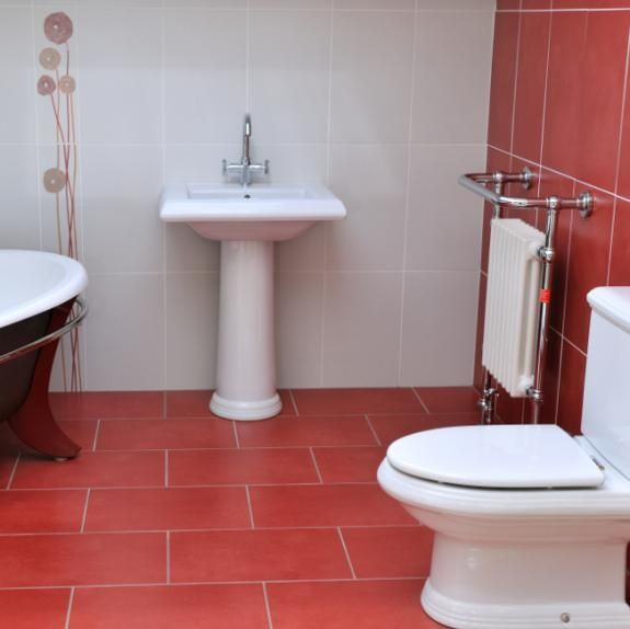 Bathroom Tiles Red red tile floor - arabella plain rojo bathroom wall & floor tile is