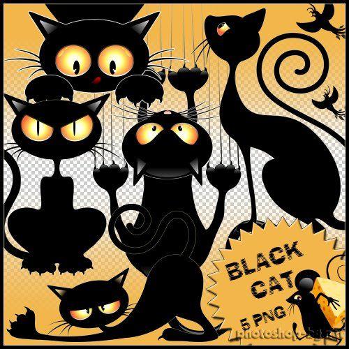 Black cat - Clipart