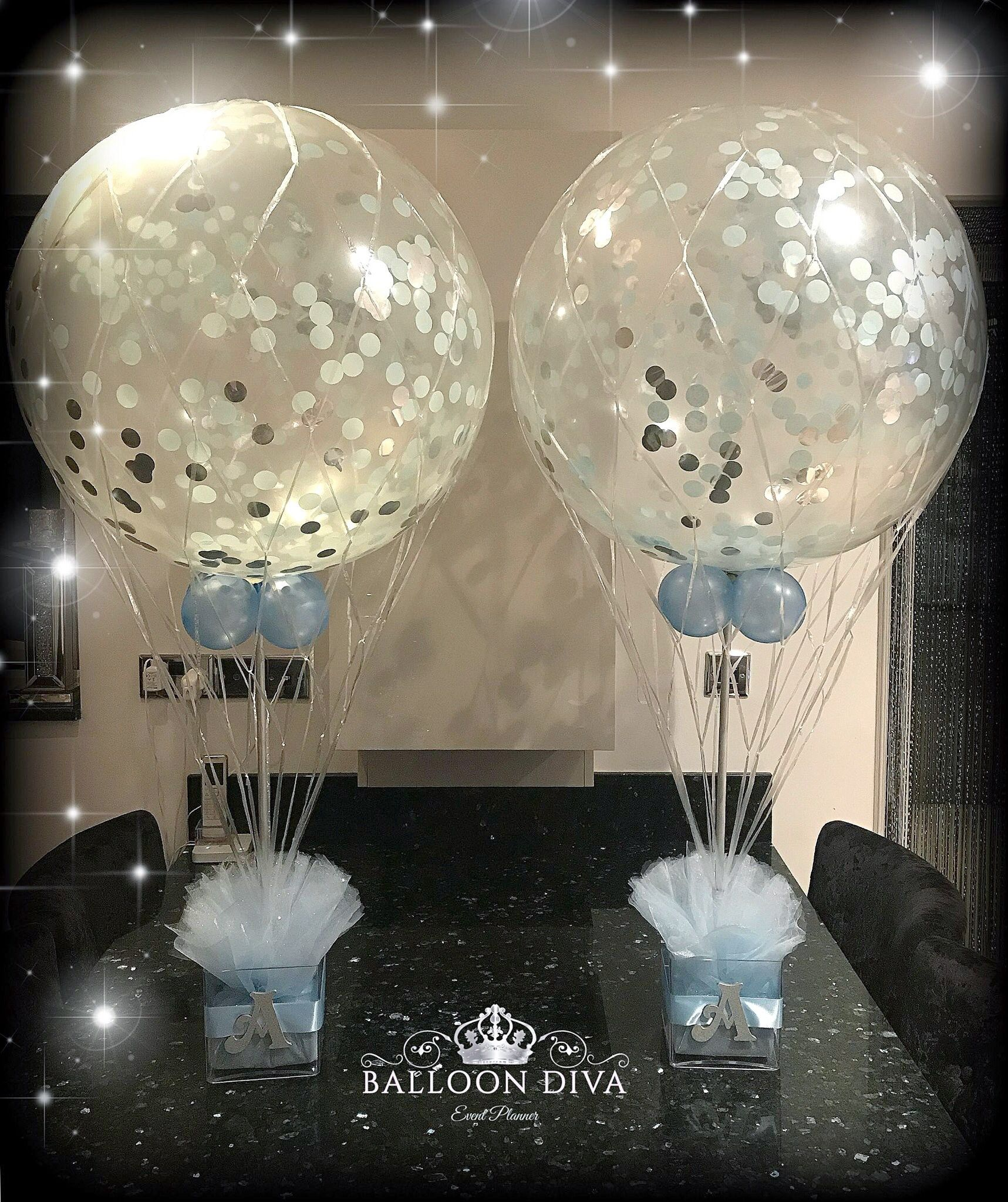 Confetti Filled Balloons Hot Air Balloon Baby Shower Hot Air Balloon Baby Shower Theme Hot Air Balloon Decorations