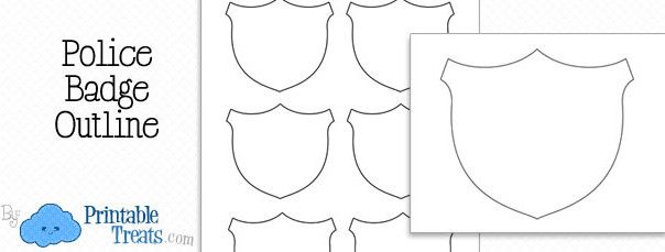 Free Printable Police Badge Outline Crafts 4 Church Police